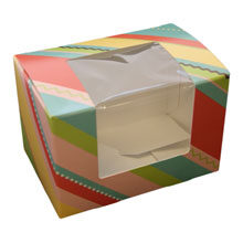 Striped boxes in pastel colors (M)