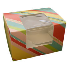 Striped boxes in pastel colors (L)