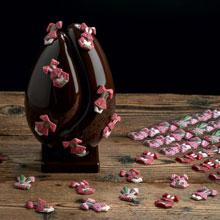 Plaque à remplir lapin de Pâques roses