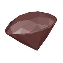 Chocolate mold diamond