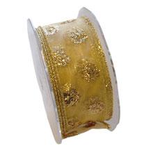 RUBAN , points scintillant or (40mm)