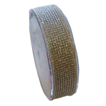 RUBAN « Quadrillé » argent (25mm)