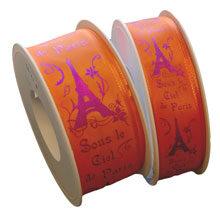 """RIBBON """"Sous le ciel de Paris"""" Orange"""