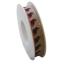 Rabbit ribbon, linen finish (15mm)