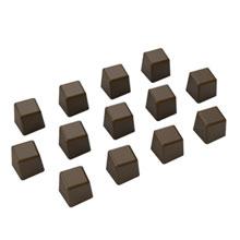 Moule chocolat, carré miniature