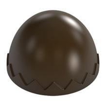 Moule chocolat demi-sphère texturé