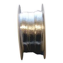 Ribbon, leatherette look, metallic silver (0.39in)
