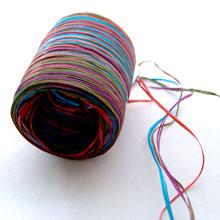 Raffia multicolor shades