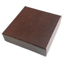 Leather Espresso box, 4ct