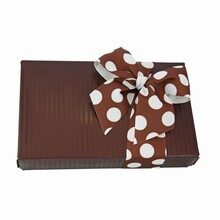 Cocoa Stripes Box 1/2lb rectangular without window