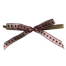 Burgundy motif bows