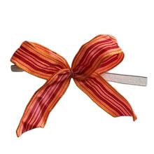 Orange, burgundy and pink motif bows
