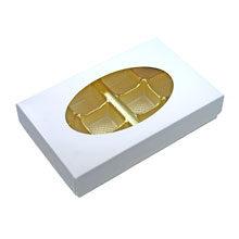 Box 1/2lb White rectangular