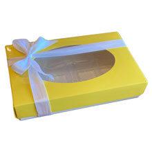 Rectangular box 1/2lb Yellow