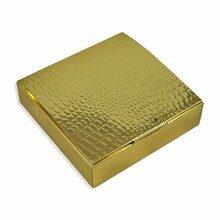 Gold croc finish box