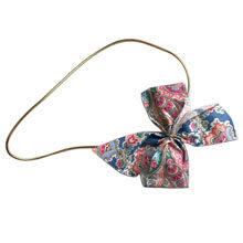 """Paisley"" bow on gold elastic ribbon"