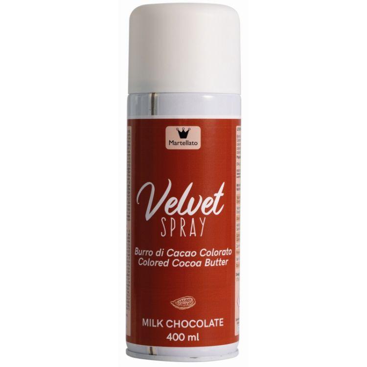 Aérosol chocolat au lait velours