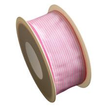 Ruban ligné rose bonbon (40mm)