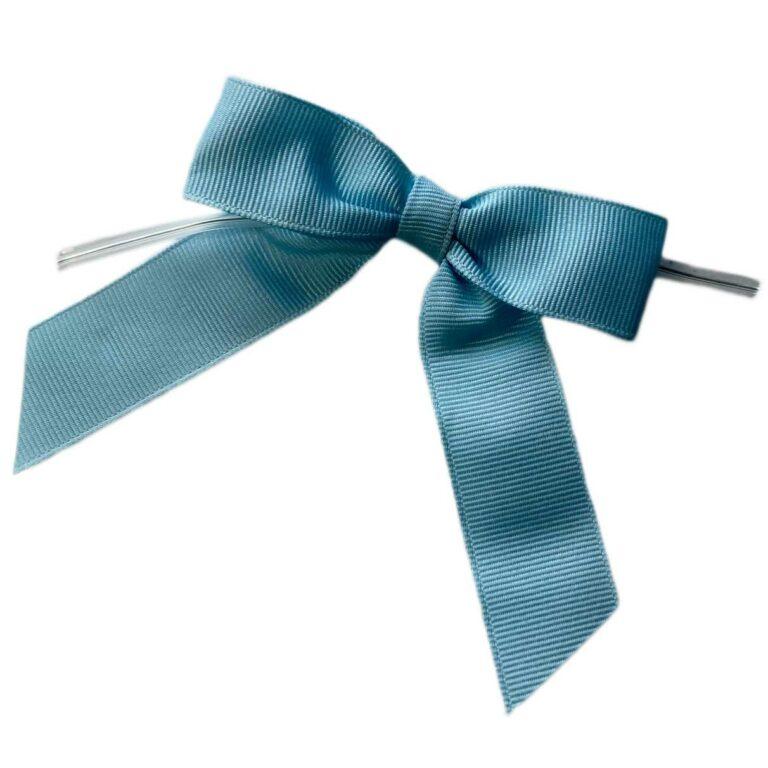 Blue Twisted Bows - Grosgrain