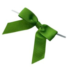 Green Twisted Bows - Grosgrain