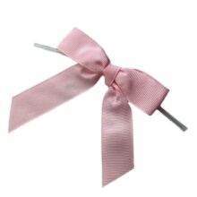 Light Pink Twisted Bows - Grosgrain