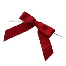 Red Twisted Bows - Grosgrain