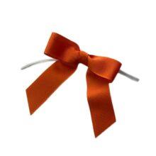 Orange Twisted Bows - Grosgrain