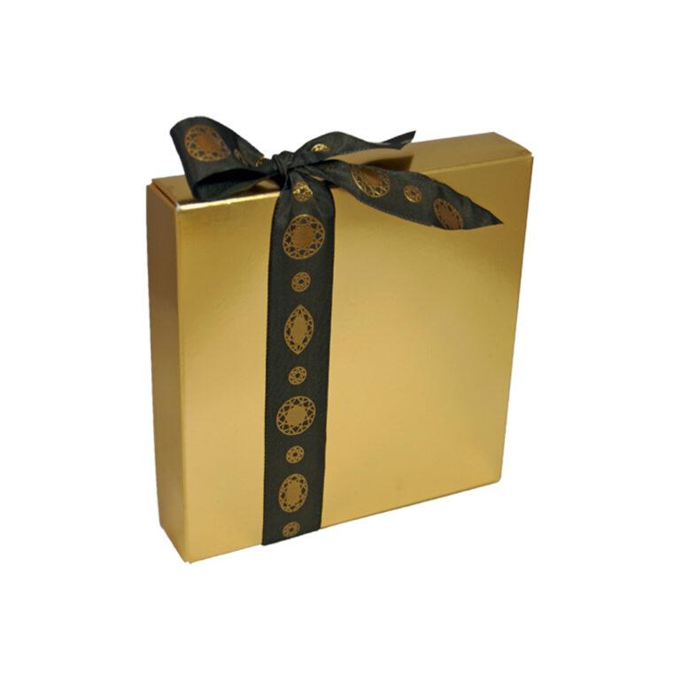 1/2lb box windowless gold square