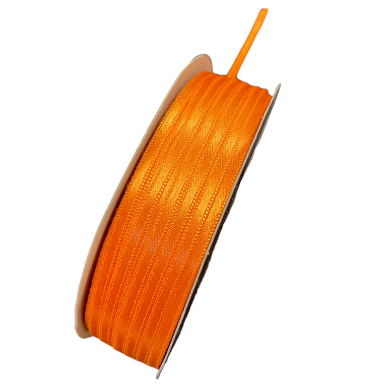 Orange satin ribbon (5mm)
