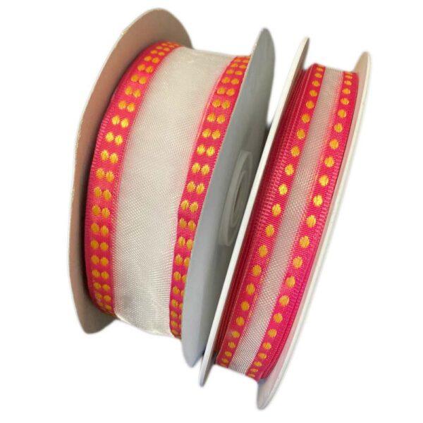 White semi-transparent ribbon
