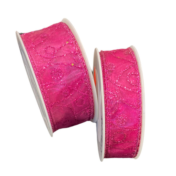 Magenta ribbon, glitter pattern