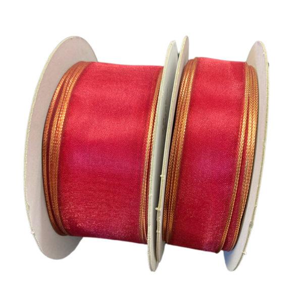 Organza ribbon, wine red
