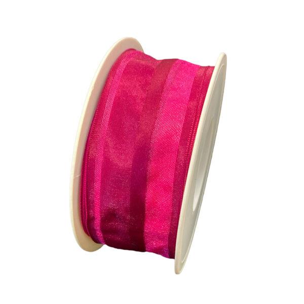 Ruban taffetas Rose magenta (40mm)