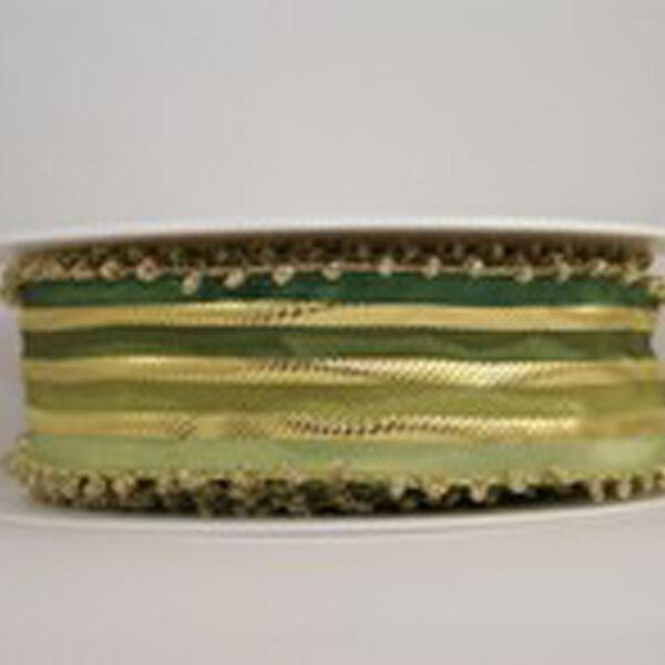 Gold and Green Ribbon