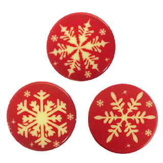 Blister Snowflakes in Red
