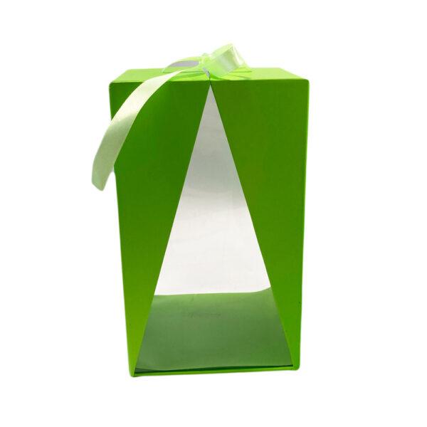 Boite Delta vert, rectangulaire