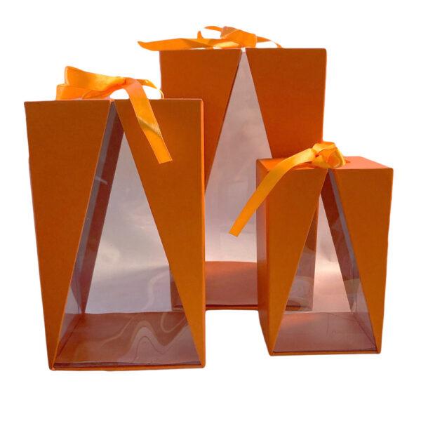 Boite Delta orange, rectangulaire