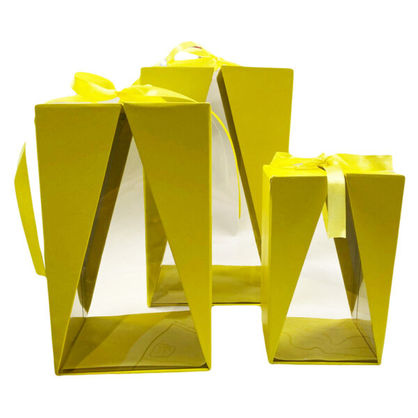Boite Delta jaune, rectangulaire