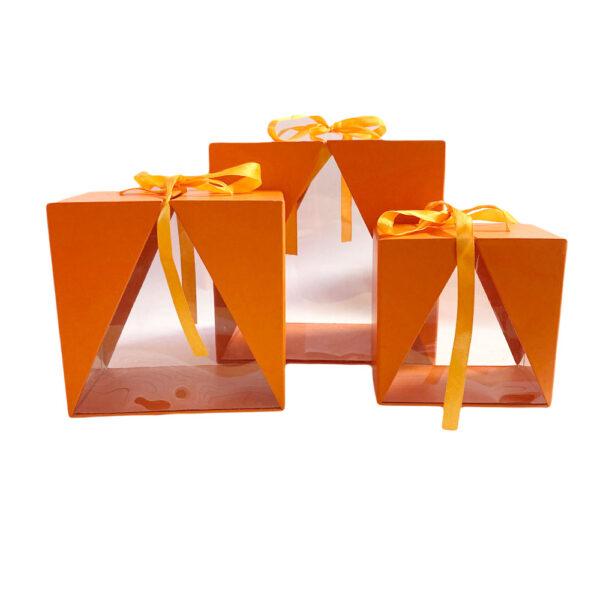 Boite Delta orange, horizontale