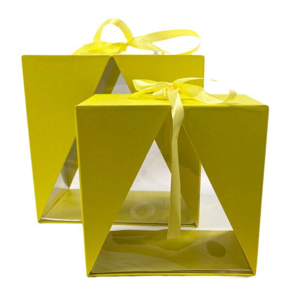 Boite Delta jaune, horizontale