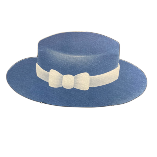 Blue boater hat