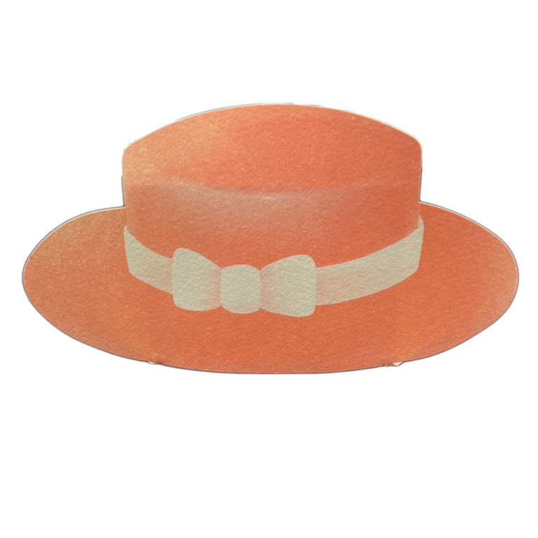 Coral boater hat