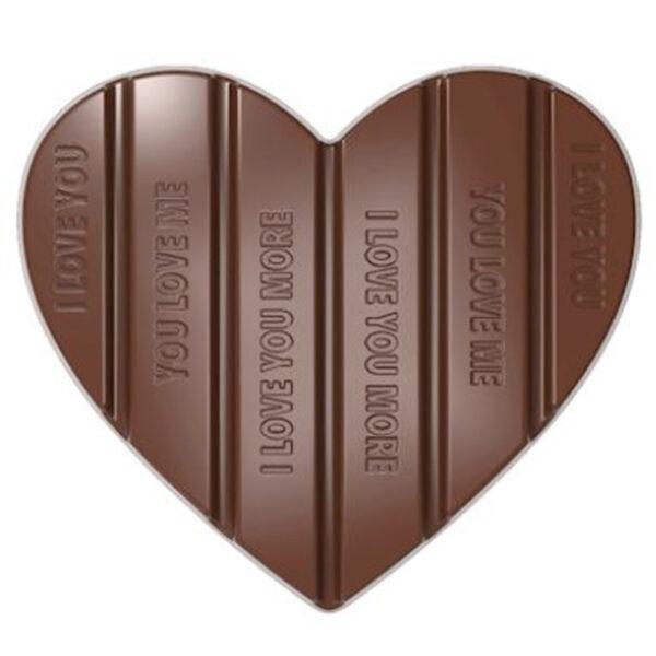 Moule à chocolat tablette coeur