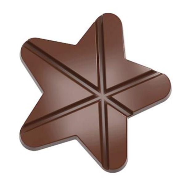 Moule à chocolat tablette étoile