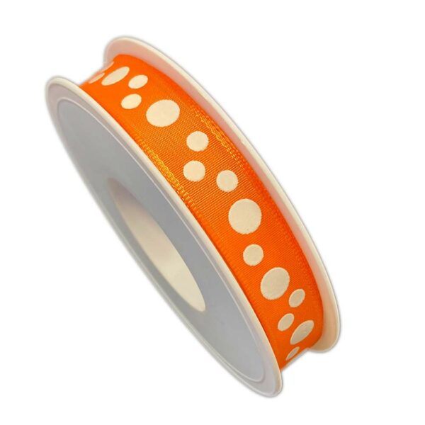 Orange ribbon with white polka dots, Maldives collection