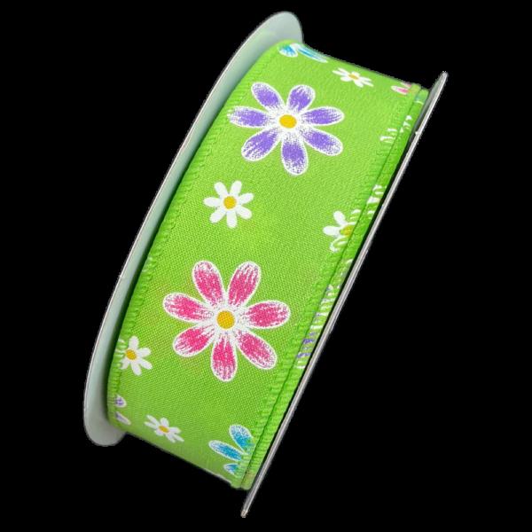 Spring ribbon, green (40mm)