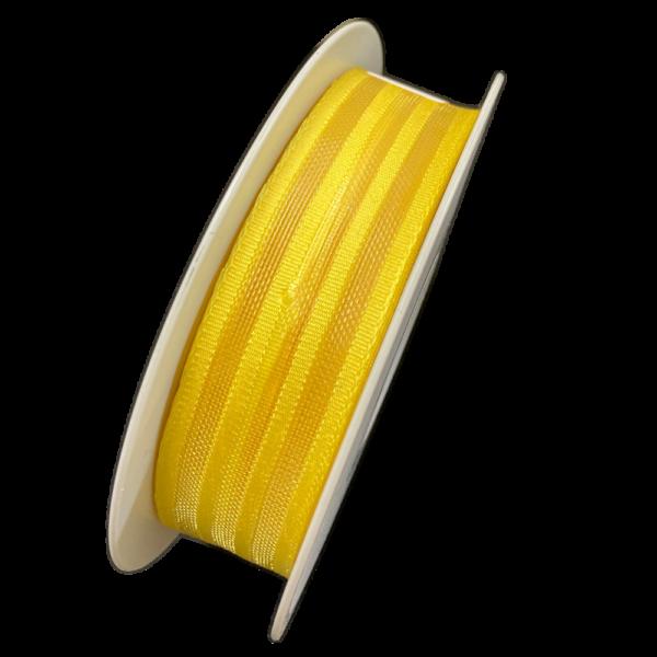 Yellow ribbon, transparent stripes (1in)
