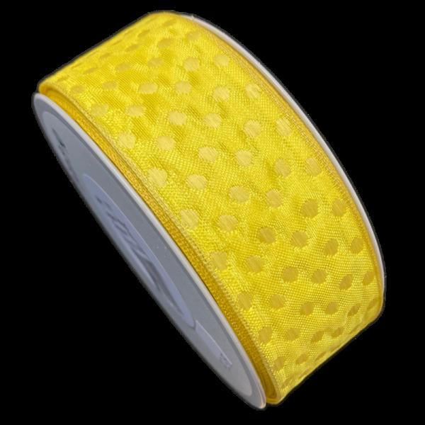 Ruban jaune avec cercle jaune (40mm)