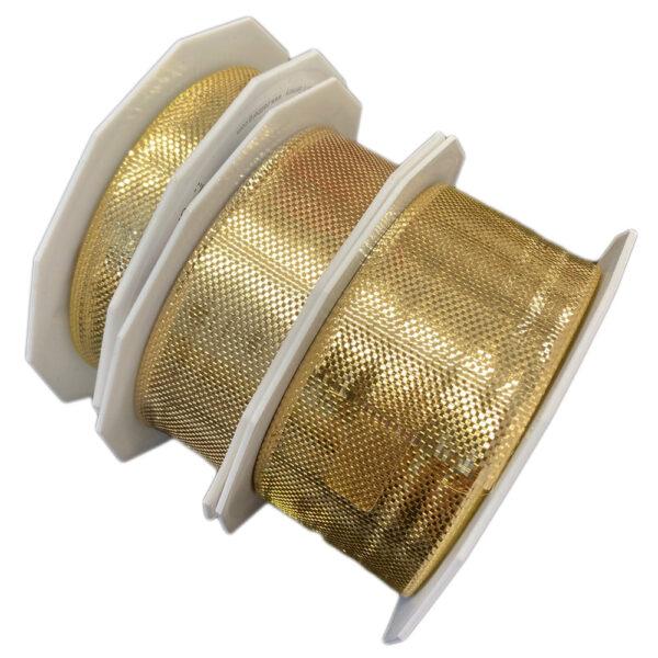 Ruban or métallique