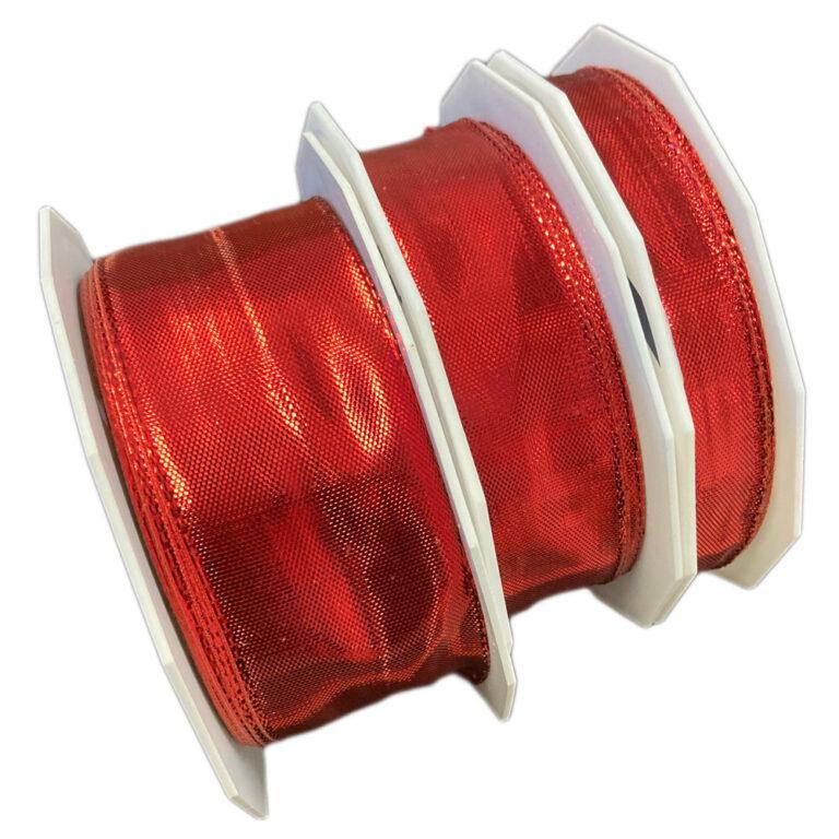 Ribbon, metallic red